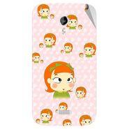 Snooky 46163 Digital Print Mobile Skin Sticker For Micromax Canvas Lite A92 - Orange