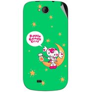 Snooky 46168 Digital Print Mobile Skin Sticker For Micromax Canvas Elanza A93 - Green