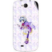 Snooky 46187 Digital Print Mobile Skin Sticker For Micromax Canvas Elanza A93 - Purple