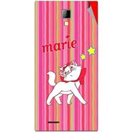 Snooky 46273 Digital Print Mobile Skin Sticker For Micromax Canvas Xpress A99 - Pink