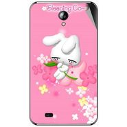 Snooky 46297 Digital Print Mobile Skin Sticker For Micromax Superfone A101 - Pink