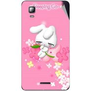 Snooky 46329 Digital Print Mobile Skin Sticker For Micromax Canvas Doodle 3 A102 - Pink