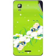 Snooky 46331 Digital Print Mobile Skin Sticker For Micromax Canvas Doodle 3 A102 - Green