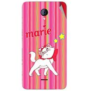 Snooky 46433 Digital Print Mobile Skin Sticker For Micromax Unite 2 A106 - Pink