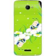 Snooky 46651 Digital Print Mobile Skin Sticker For Micromax Canvas Elanza 2 A121 - Green
