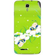 Snooky 46683 Digital Print Mobile Skin Sticker For Micromax Canvas Juice A177 - Green