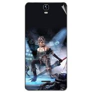 Snooky 46717 Digital Print Mobile Skin Sticker For Micromax Canvas HD Plus A190 - Blue