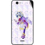 Snooky 46827 Digital Print Mobile Skin Sticker For Micromax Canvas knight cameo A290 - Purple