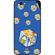 Snooky 46832 Digital Print Mobile Skin Sticker For Micromax Canvas knight cameo A290 - Blue