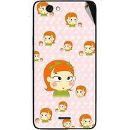 Snooky 46835 Digital Print Mobile Skin Sticker For Micromax Canvas knight cameo A290 - Orange