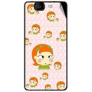 Snooky 46963 Digital Print Mobile Skin Sticker For Micromax Canvas Knight A350 - Orange