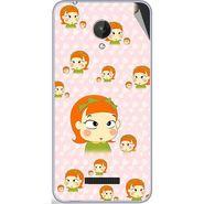 Snooky 47091 Digital Print Mobile Skin Sticker For Micromax Canvas Spark Q380 - Orange