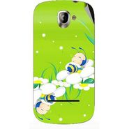 Snooky 47130 Digital Print Mobile Skin Sticker For Xolo A500 - Green