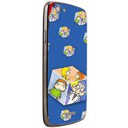 Snooky 47279 Digital Print Mobile Skin Sticker For Xolo A510S - Blue