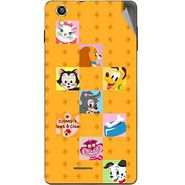 Snooky 47391 Digital Print Mobile Skin Sticker For Xolo A1010 - Yellow