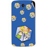 Snooky 47439 Digital Print Mobile Skin Sticker For Xolo Omega 5.0 - Blue
