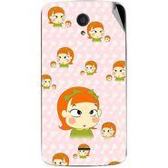 Snooky 47442 Digital Print Mobile Skin Sticker For Xolo Omega 5.0 - Orange