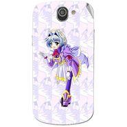 Snooky 47530 Digital Print Mobile Skin Sticker For Xolo Q600 - Purple