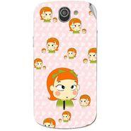 Snooky 47538 Digital Print Mobile Skin Sticker For Xolo Q600 - Orange