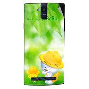 Snooky 47897 Digital Print Mobile Skin Sticker For Xolo Q2000 - Green