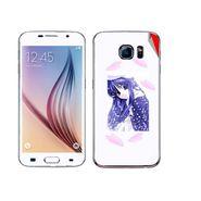 Snooky 48237 Digital Print Mobile Skin Sticker For Samsung Galaxy S6 - White