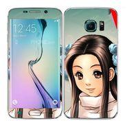 Snooky 48245 Digital Print Mobile Skin Sticker For Samsung Galaxy S6 Edge - Multicolour
