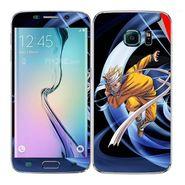 Snooky 48253 Digital Print Mobile Skin Sticker For Samsung Galaxy S6 Edge - Blue