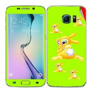 Snooky 48257 Digital Print Mobile Skin Sticker For Samsung Galaxy S6 Edge - Green