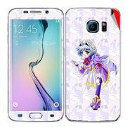 Snooky 48265 Digital Print Mobile Skin Sticker For Samsung Galaxy S6 Edge - Purple