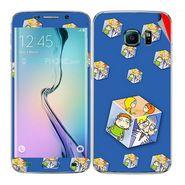 Snooky 48270 Digital Print Mobile Skin Sticker For Samsung Galaxy S6 Edge - Blue