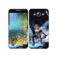 Snooky 48283 Digital Print Mobile Skin Sticker For Samsung Galaxy E7 - Blue