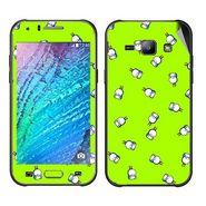 Snooky 48320 Digital Print Mobile Skin Sticker For Samsung Galaxy J1 - Green