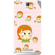 Snooky 48369 Digital Print Mobile Skin Sticker For Lava Iris Fuel 50 - Orange