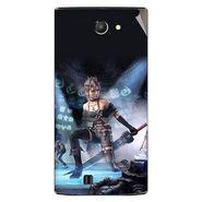 Snooky 48443 Digital Print Mobile Skin Sticker For Lava Iris 456 - Blue