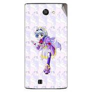Snooky 48457 Digital Print Mobile Skin Sticker For Lava Iris 456 - Purple