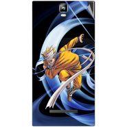 Snooky 48541 Digital Print Mobile Skin Sticker For Lava Iris 504Q Plus - Blue