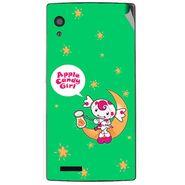 Snooky 48566 Digital Print Mobile Skin Sticker For Lava Iris Fuel 60 - Green