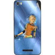 Snooky 48634 Digital Print Mobile Skin Sticker For Lava Iris X8 - Blue
