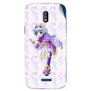 Snooky 48681 Digital Print Mobile Skin Sticker For Lava Iris 450 - Purple