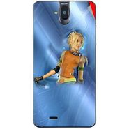 Snooky 48698 Digital Print Mobile Skin Sticker For Lava Iris 550Q - Blue