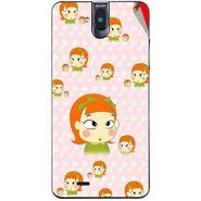 Snooky 48721 Digital Print Mobile Skin Sticker For Lava Iris 550Q - Orange