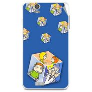 Snooky 48846 Digital Print Mobile Skin Sticker For Lava Iris X5 - Blue