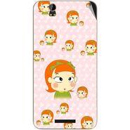 Snooky 48881 Digital Print Mobile Skin Sticker For Lava Iris X1 Grand - Orange