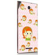 Snooky 48913 Digital Print Mobile Skin Sticker For Lava Magnum X604 - Orange