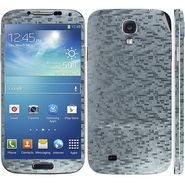 Snooky 18262 Mobile Skin Sticker For Samsung Galaxy S4 I9500 - Silver
