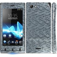 Snooky 18750 Mobile Skin Sticker For Sony Xperia J - Silver