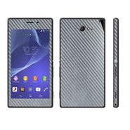 Snooky 18773 Mobile Skin Sticker For Sony Xperia M2 - Silver