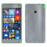 Snooky 20656 Mobile Skin Sticker For Microsoft Nokia Lumia 535 - silver