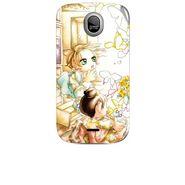Snooky 42456 Digital Print Mobile Skin Sticker For Micromax Ninja A89 - White