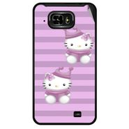 Snooky 42469 Digital Print Mobile Skin Sticker For Micromax Superfone Pixel A90 - Pink
